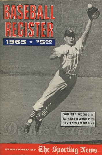 1965 Baseball Register   -  Ken Boyer  Issue