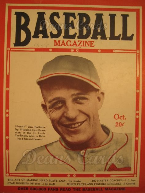 1928 Baseball Magazine    October