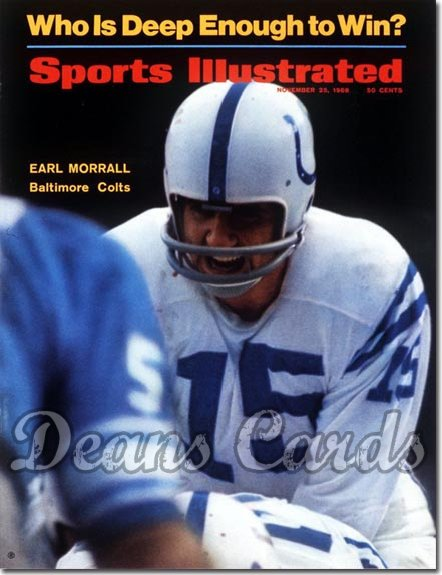 1968 Sports Illustrated - With Label   November 25  -  Earl Morrall (Baltimore Colts)