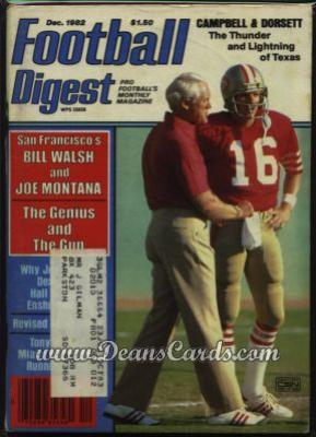 1982 Football Digest    December  - Joe Montana / Steve Walsh