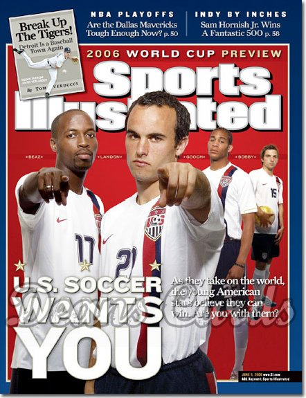 2006 Sports Illustrated - With Label   June 5  -  USA World Cup Soccer Team