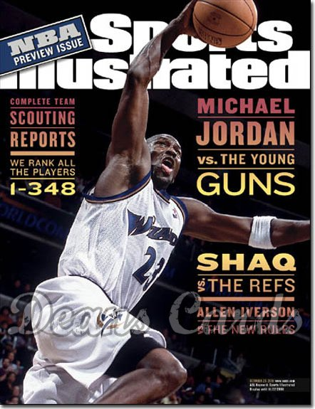 2001 Sports Illustrated - With Label   October 29  -  Michael Jordan Washington Wizards