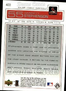 2003 Upper Deck #403  Garrett Stephenson
