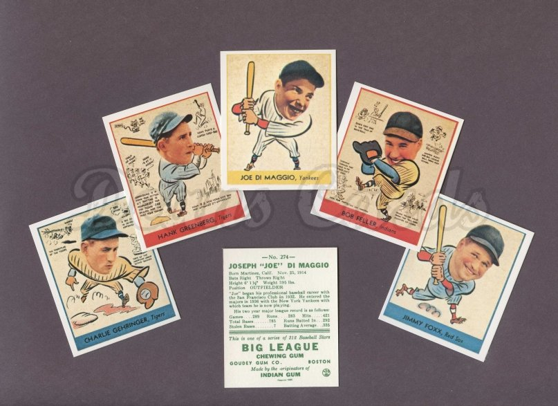 1938 Goudey Reprint    Goudey Heads Up Reprint Complete Set