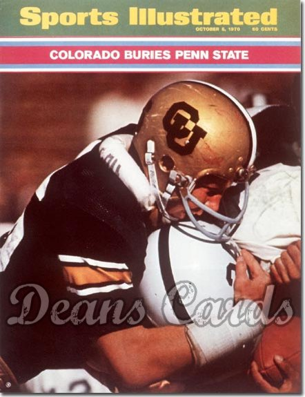 1970 Sports Illustrated - With Label   October 5  -  Colorado Buffaloesvs.Penn State Nittany Lions