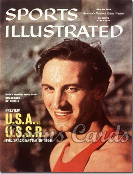 1959 Sports Illustrated - With Label   July 20  -  Vasily Kuznetsov (USSR Track)