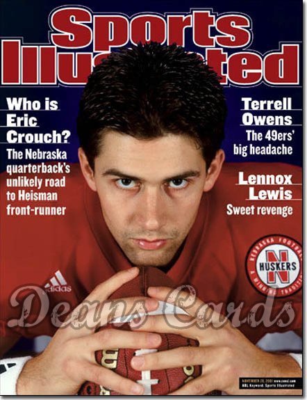 2001 Sports Illustrated - With Label   November 26  -  Eric Crouch Nebraska Cornhuskers