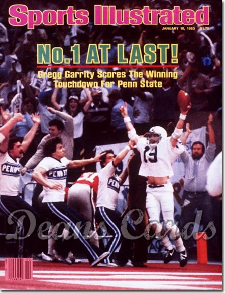 1983 Sports Illustrated - With Label   January 10  -  Gregg Garrity (Penn State Nittany Lions)