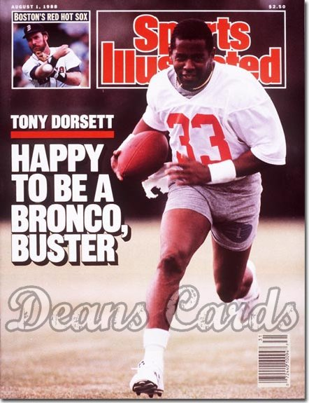 1988 Sports Illustrated - With Label   August 1  -  Tony Dorsett (Denver Broncos)