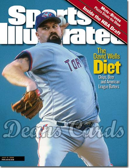2000 Sports Illustrated   July 10  -  David Wells (Toronto Blue Jays)