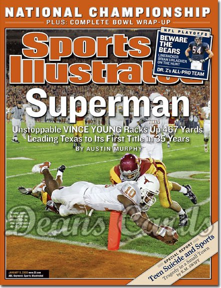 2006 Sports Illustrated   January 9  -  Vince Young