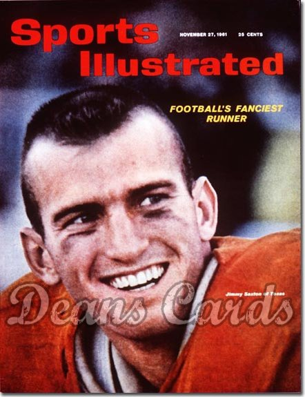 1961 Sports Illustrated - With Label   November 27  -  James Saxton Texas Longhorns