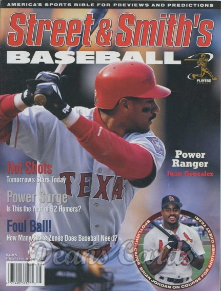 1997 Street & Smith's Baseball Yearbook   -  Juan Gonzalez