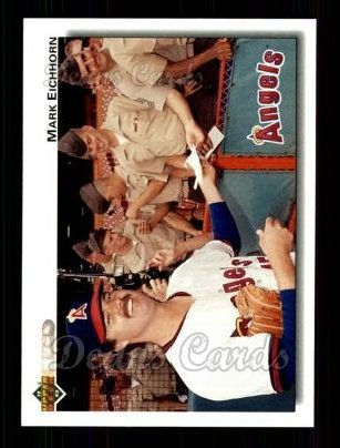 1992 Upper Deck #287  Mark Eichhorn