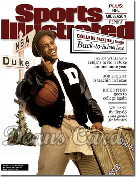 2001 Sports Illustrated   November 19  -  Jason Williams Duke Blue Devils Basketball Preview