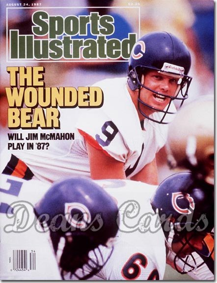 1987 Sports Illustrated - With Label   August 24  -  Jim McMahon (Chicago Bears)