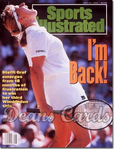 1991 Sports Illustrated - With Label   July 15  -  Steffi Graf