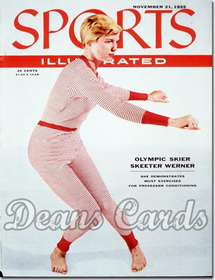 1955 Sports Illustrated - With Label   November 21  -  Skeeter Werner (Skiing / Skier)