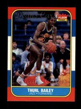1986 Fleer #6  Thurl Bailey