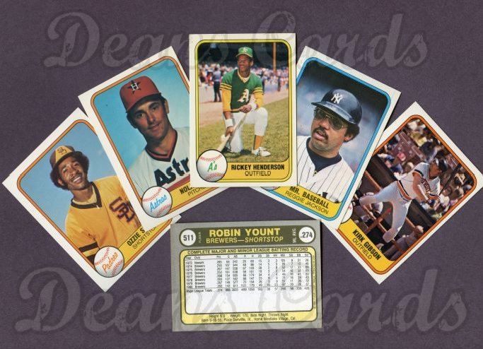 1981 Fleer     Baseball Complete Set