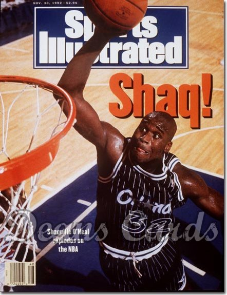 1992 Sports Illustrated - With Label   November 30  -  Shaquille O'Neal (Orlando Magic)