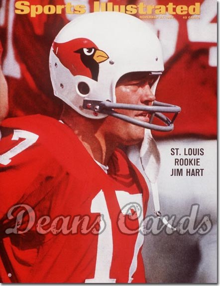 1967 Sports Illustrated   November 27  -  Jim Hart (St. Louis Cardinals)