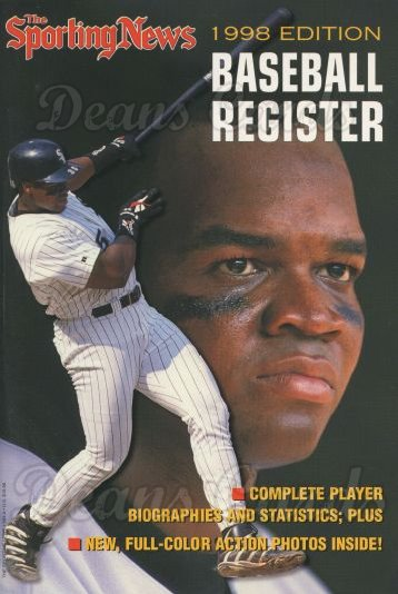 1998 Baseball Register   -  Frank Thomas  Issue