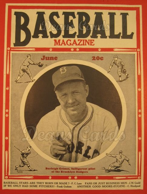 1937 Baseball Magazine    June