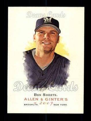 2007 Topps Allen & Ginter #155  Ben Sheets