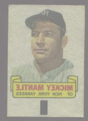 1966 Topps Rub Off #57   Mickey Mantle