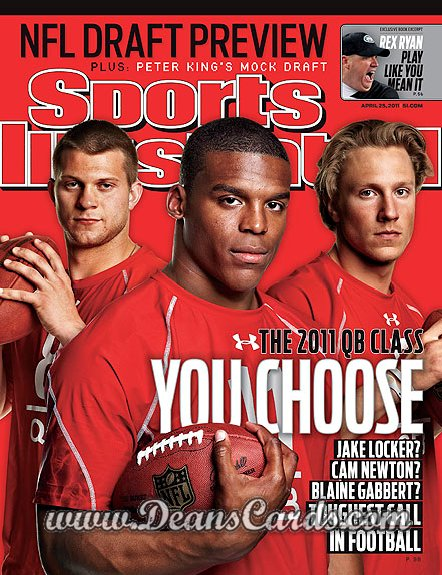2011 Sports Illustrated   April 25  -  Locker / Newton / Gabbert