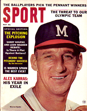 1964 Sport Magazine   -  Warren Spahn  May