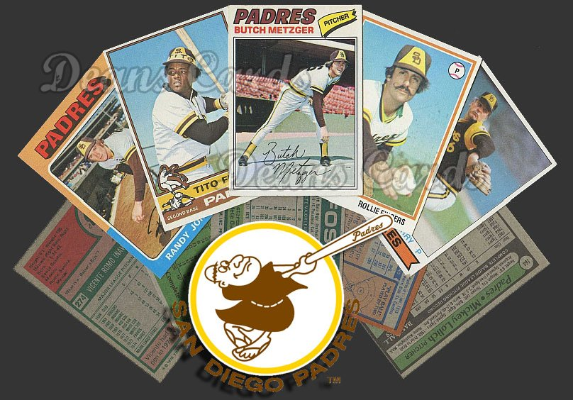 1975 Topps   -79  San Diego Padres Team Starter Set / Lot - Md