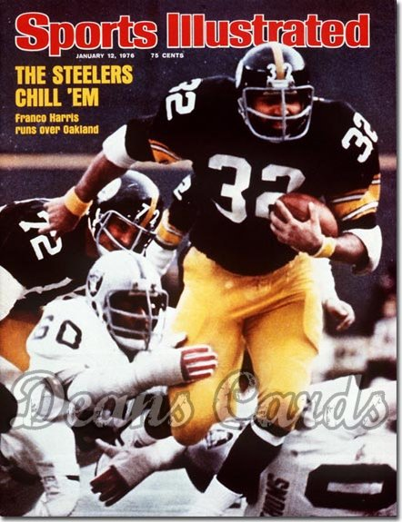 1976 Sports Illustrated - With Label   January 12  -  Franco Harris (Pittsburgh Steelers)