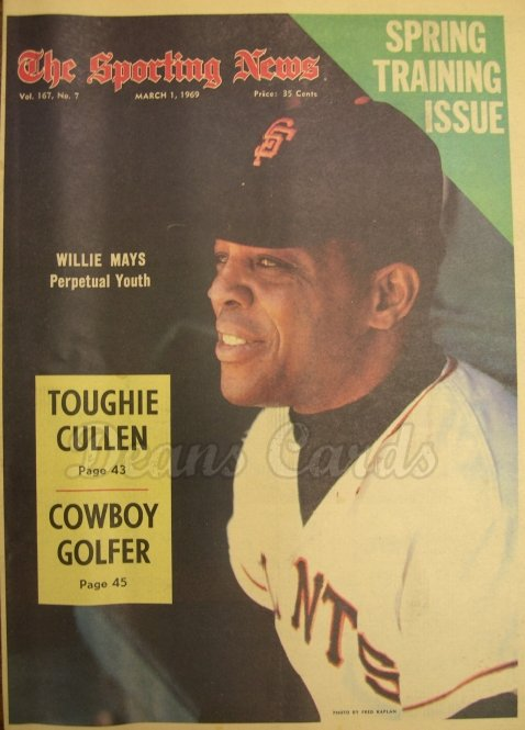 1969 The Sporting News   March 1  - Willie Mays / Ted Williams