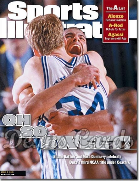 2001 Sports Illustrated - With Label   April 9  -  Shane Battier / Mike Dunleavy Jr. (Duke Blue Devils)