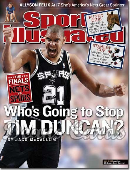 2003 Sports Illustrated   June 9  -  Tim Duncan (San Antonio Spurs)