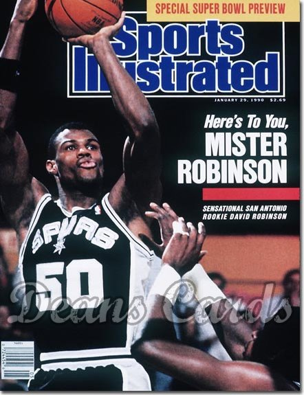 1990 Sports Illustrated   January 29  -  David Robinson (San Antonio Spurs)