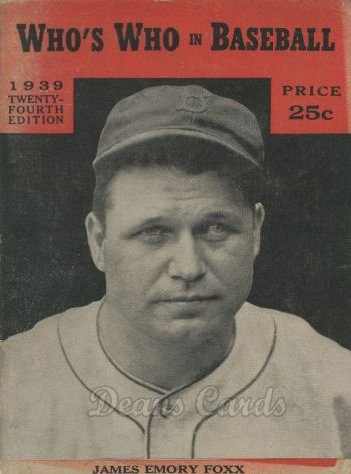 1939 Who's Who in Baseball   -  Jimmie Foxx