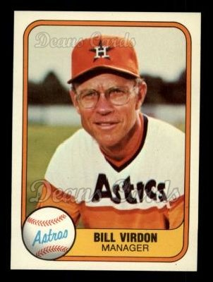 1981 Fleer #61  Bill Virdon