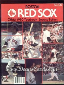 1980 Boston Red Sox Yearbook - Revised