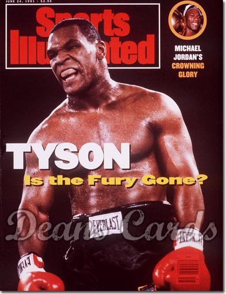 1991 Sports Illustrated - With Label   June 24  -  Mike Tyson (Michael Jordan Inset)