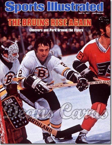 1977 Sports Illustrated - With Label   May 9  -  Brad Park/Garry Cheevers (Boston Bruins)