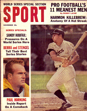 1964 Sport Magazine   -  Harmon Killebrew  November