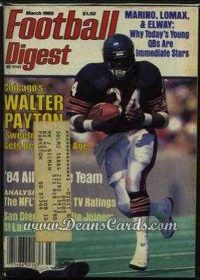 1985 Football Digest    March  - Walter Payton