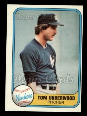 1981 Fleer #97  Tom Underwood