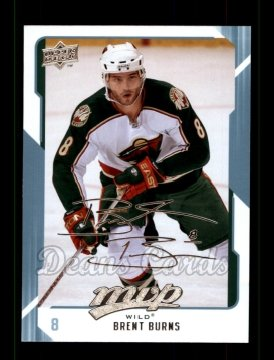 2008 Upper Deck MVP #144  Brent Burns