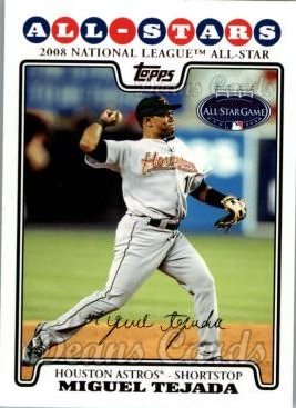 2008 Topps Updates #28   -  Miguel Tejada All-Star