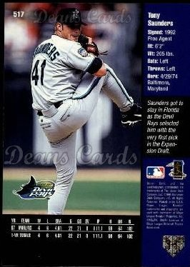 1998 Upper Deck #517  Tony Saunders