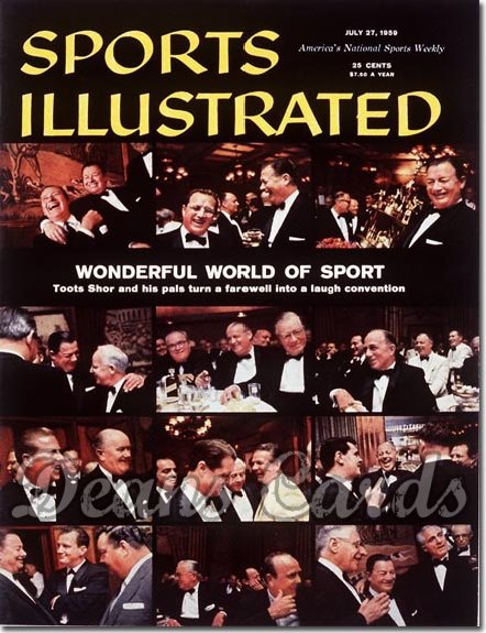 1959 Sports Illustrated - With Label   July 27  -  Toots Shor